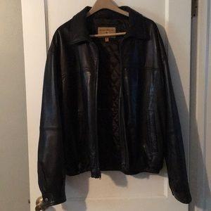 Boston Harbour Black leather jacket
